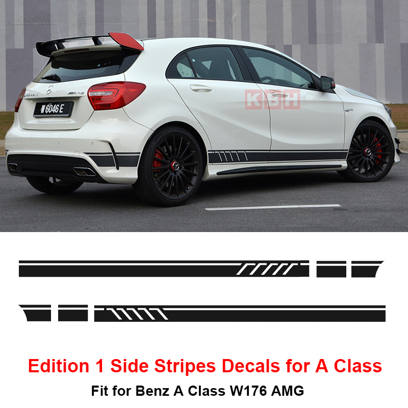 Edition 1 style side stripes sticker for mercedes benz a for Mercedes benz decal