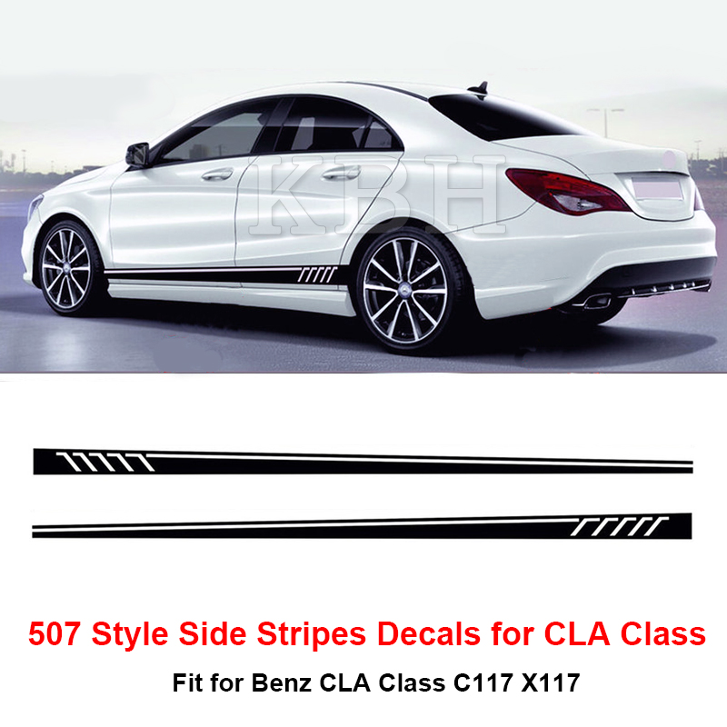507 style side stripes sticker for mercedes benz w117 c117 for Mercedes benz decals