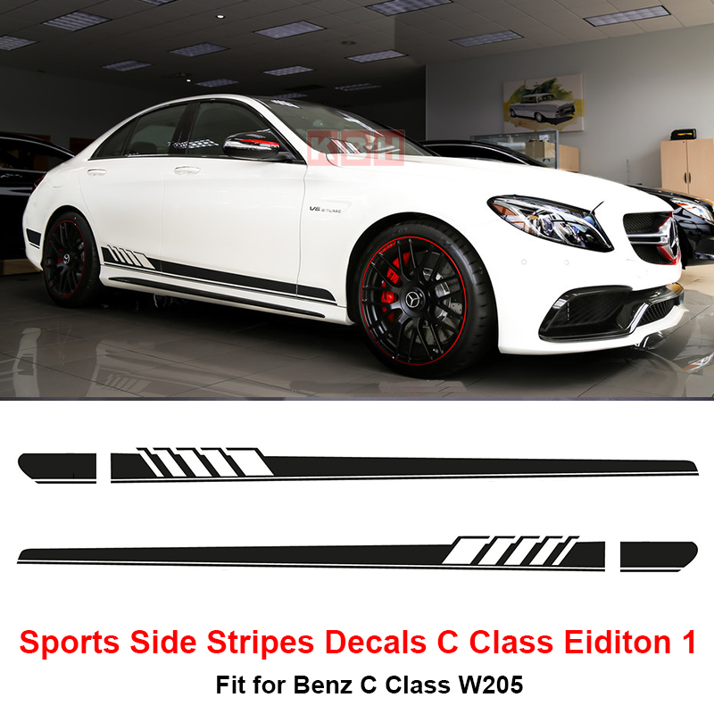 Edition 1 side stripes decal sticker for mercedes benz for High performance parts for mercedes benz
