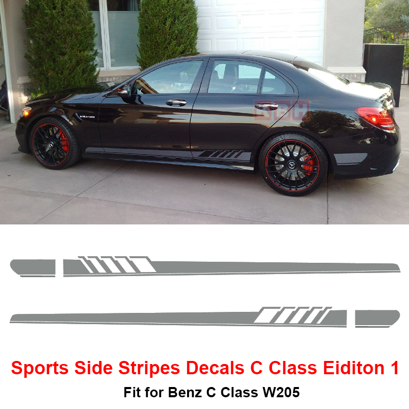 Edition 1 side stripe decal sticker for mercedes benz w205 for Mercedes benz decals