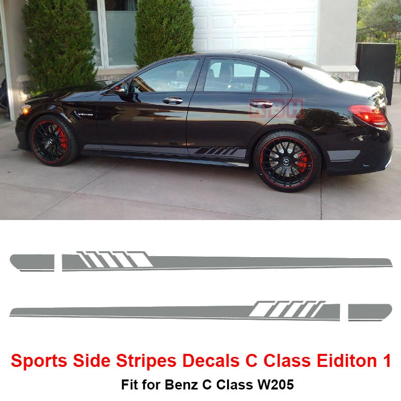 Edition 1 Side Stripes Decals Sticker Benz W205 C Class