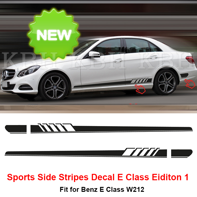New Edition 1 Style Side Stripe Sticker For Mercedes Benz