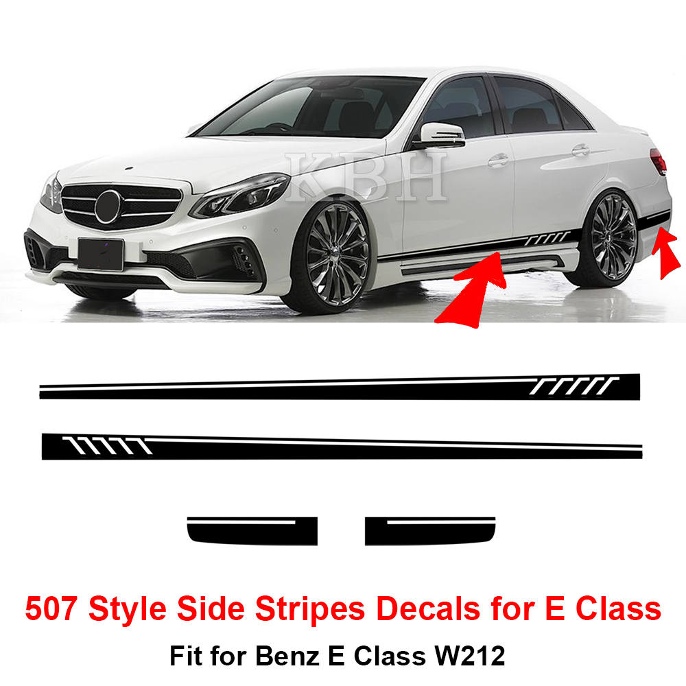 507 style side stripes sticker for mercedes benz w212 e 63 for Mercedes benz decal