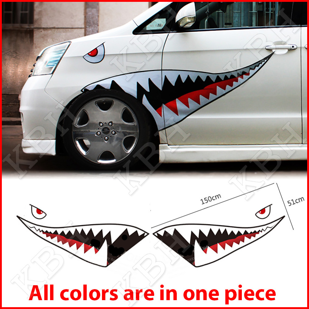 59 Quot Full Size Shark Mouth Teeth Flying Tiger Die Cut Vinyl
