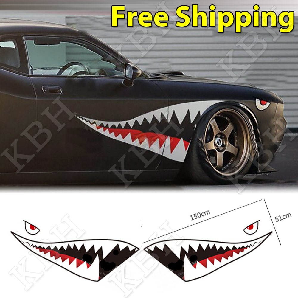 59 Quot Full Size Shark Mouth Tooth Flying Tiger Die Cut Vinyl