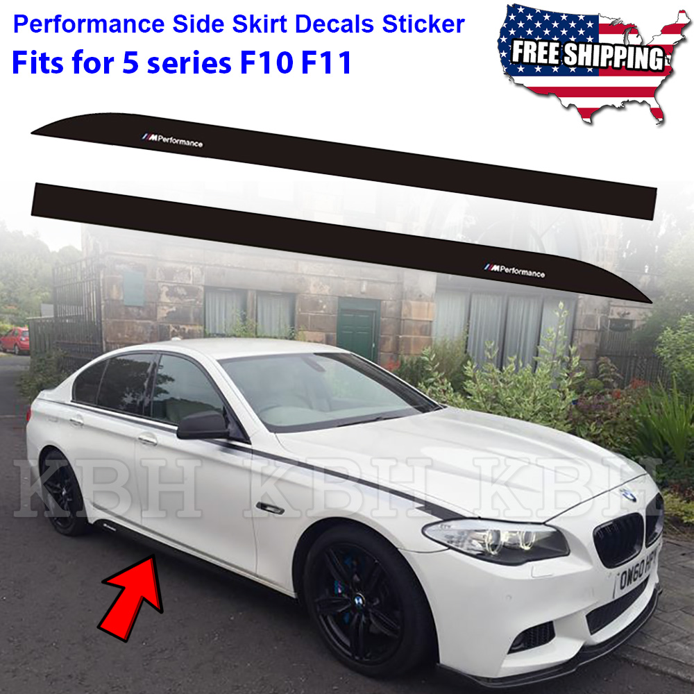 M performance side skirt sill decal stripe sticker for bmw 5 series f10 f11 e60