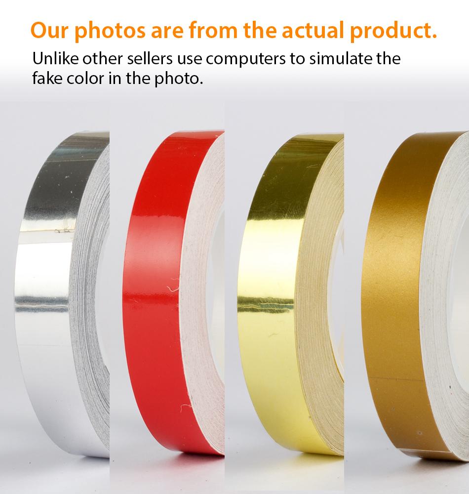 "SILVER CHROME 3mm 1//8/"" PIN STRIPE Car Model Streamline TAPE Decal Vinyl Sticker"