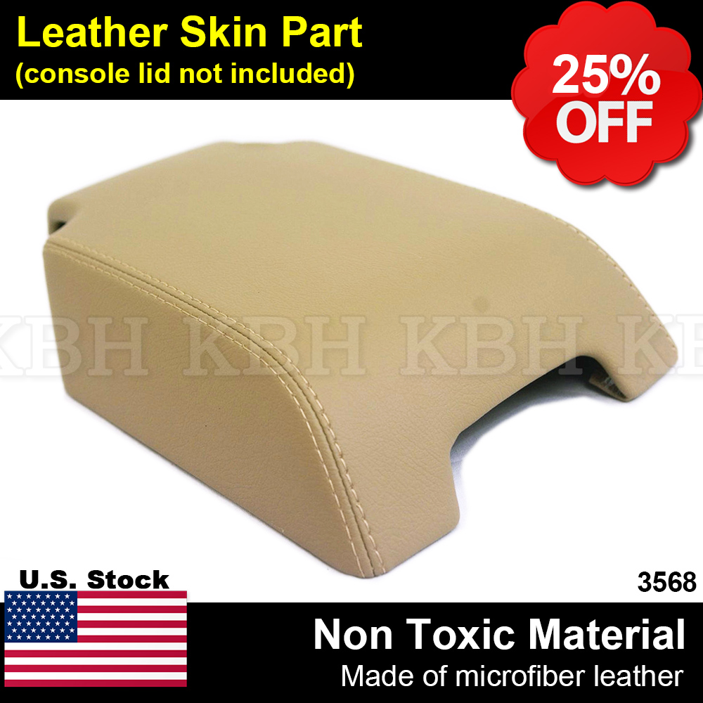 GREY STITCH REAL LEATHER ARMREST COVER FITS LAND ROVER DISCOVERY 3 4 LR3 LR4