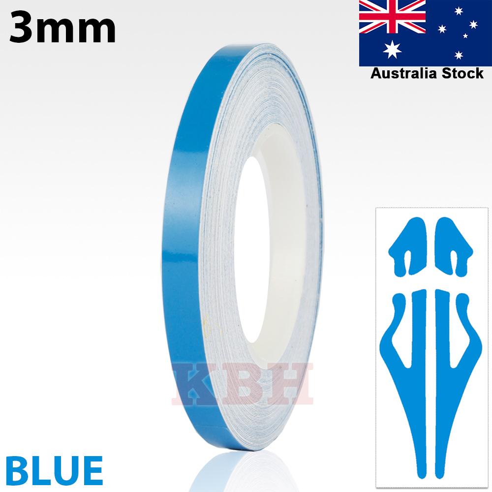 "1//8/"" Roll Vinyl Pinstriping Pin Stripe Line Tape Decal Sticker 3mm OCEAN BLUE"