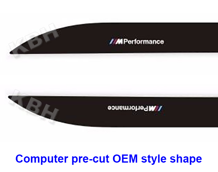 2pcs M Performance Side Skirt Stripe Decals Vinyl Sticker