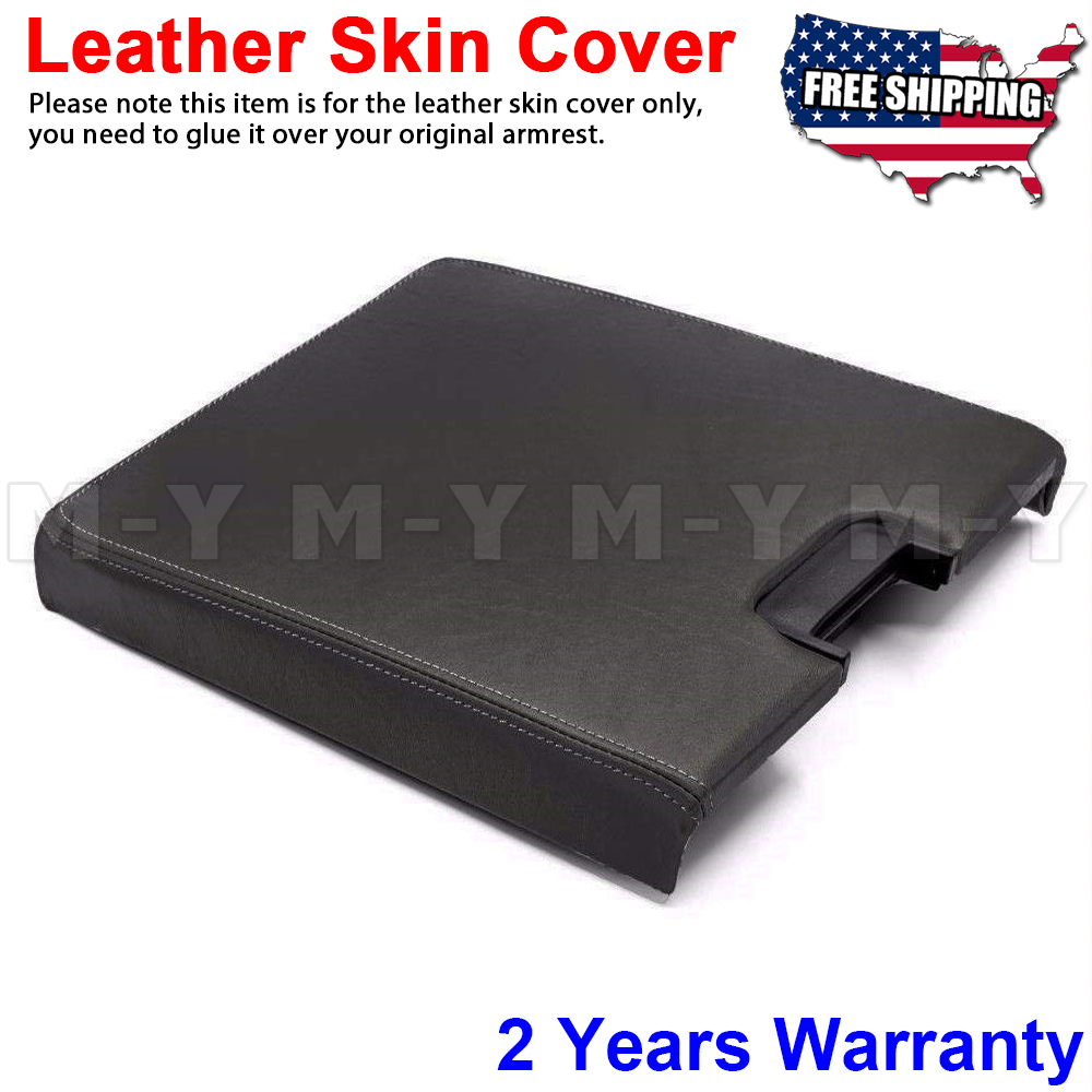 Fit 07-14 Silverado Sierra Tahoe Yukon Console Lid Cover Skin AZ-3 Light Gray