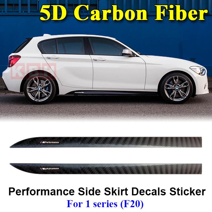M Performance Side Door Stripes Waistline Decals Stickers for BMW 1 Series F20