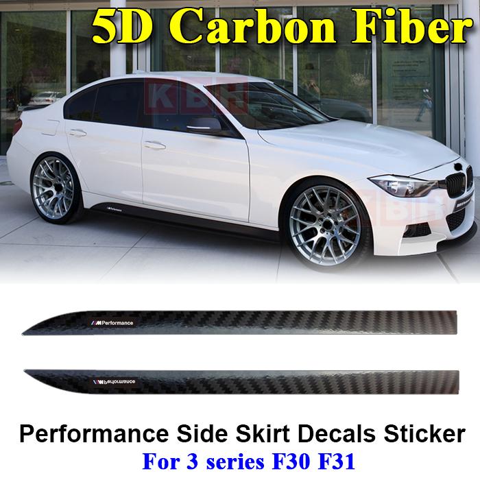 BMW F30 F31 F32 F33 M Performance Side Skirt Sticker Matte Black