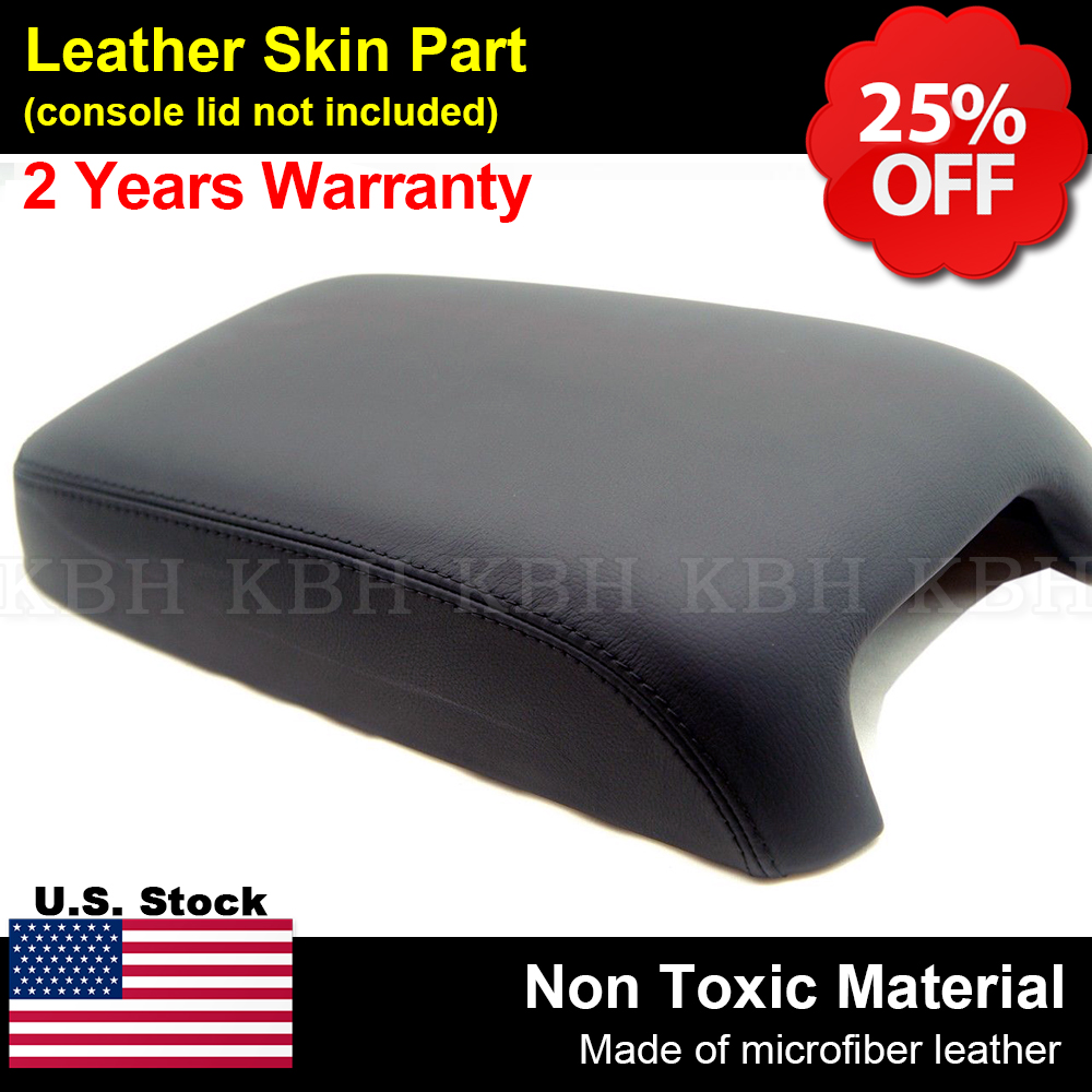 FITS CHRYSLER 300C//CRD REAL LEATHER ARM REST LID COVER BLACK