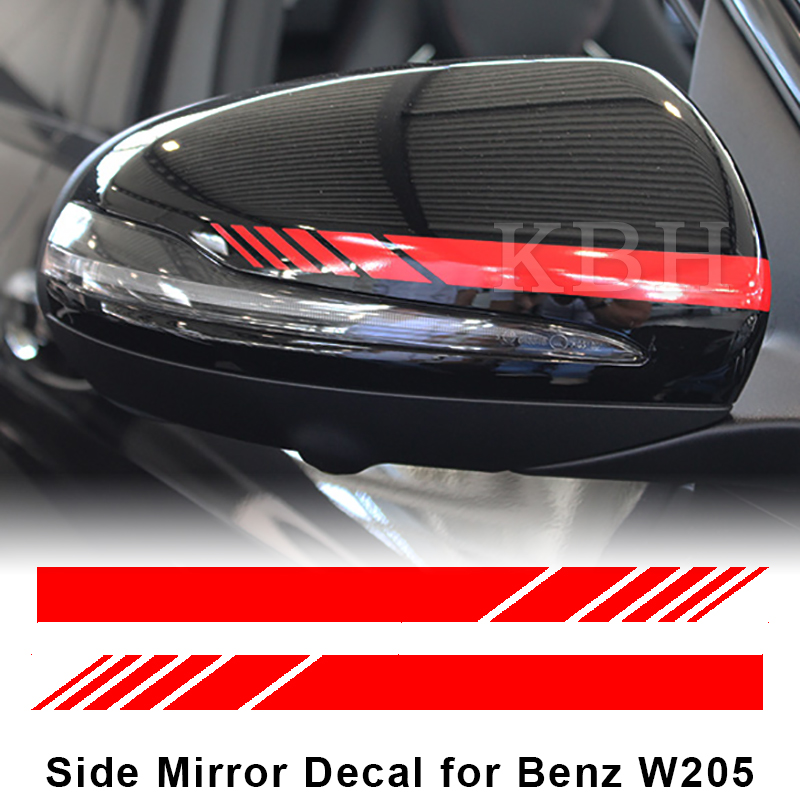Edition 1 Style Mirror Red Stripes Decals For Mercedes